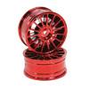 Red 15-spoke Painted Wheels 1 pair(1/10 Car)