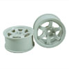 White 6 Spoke Wheels 1 pair(1/10 Car, 4mm Offset)