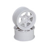 White 6 Spoke Wheels 1 pair(1/10 Car, 12mm Offset) [8303WC]