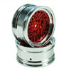 Red/Silver Vintage Wheels 1 pair(1/10 Car, 3mm Offset) [8315RS3]