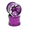 Purple Aluminum 8 Spoke Wheels 1 Pair(1/10 Truck)