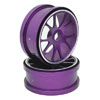 Purple Aluminum 10 Spoke Wheels 1 Pair