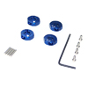 Blue Aluminum Wheel Adaptors with Lock Screws - 4mm