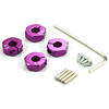 Purple Aluminum Wheel Adaptors with Lock Screws - 5mm