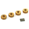 Golden Aluminum Wheel Adaptors with Pins - 5mm