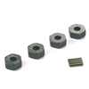 Titanium Color Aluminum Wheel Adaptors with Pins - 5mm