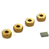 Golden Aluminum Wheel Adaptors with Pins - 6mm