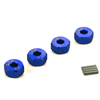 Blue Aluminum Wheel Adaptors with Pins - 6mm