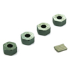 Titanium Color Aluminum Wheel Adaptors with Pins - 6mm