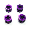 MP7.5 Purple Aluminum Drive Adaptors with Wheel Stopper Nuts