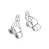 Rear steering knuckle arms 1set