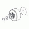 Clutch gear w/screw & washer(For LEO engine)