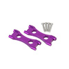 Savage Purple Aluminum Front and Rear Gear Box Brace