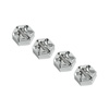 Savage Silver Aluminum 1/8 Drive Adaptors with Pins