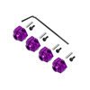 NMT2 Purple Aluminum Wheel Adaptors